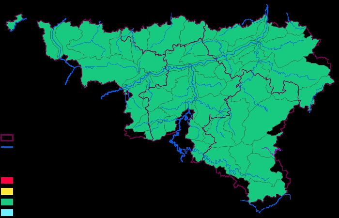 Image dynamique de l'état actuel des eaux en Wallonie